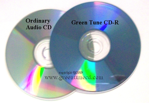 Green Tune CD Recordable Surface View